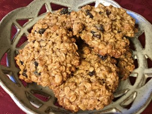 Oatmeal Raisin Cookies on plate