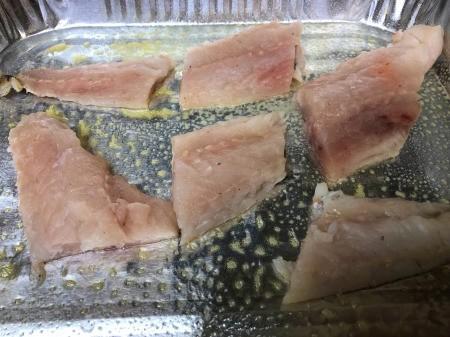 fish fillets in baking pan