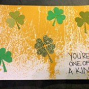 One of a Kind Clover Card - front of the finished card