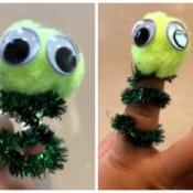 Easy Pom Pom Finger Puppet - finger puppet