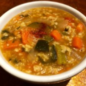 bowl of  Oat and Vegetable Soup