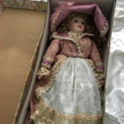 Value of a Knightbridge Porcelain Doll  - doll in box