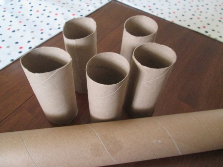Recycled Bunny Friends - paper tubes
