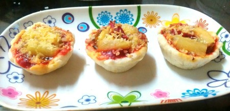 Sardine Pizza Cups on plate