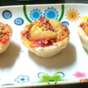 Sardine Pizza Cups on plate