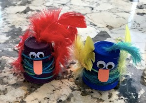 Plastic Cup Pet Bird - two birds