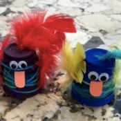 Plastic Cup Pet Bird - two birds