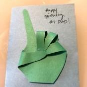 #1 Dad Birthday Card