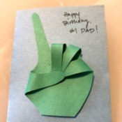 #1 Dad Birthday Card - finished card with message on front