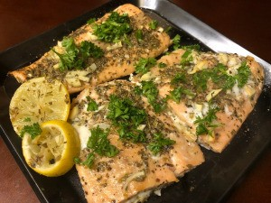 Oven Poached Lemon Herb Salmon
