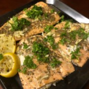 Oven Poached Lemon Herb Salmon