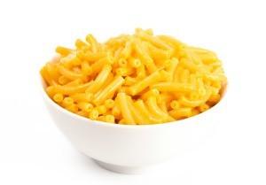 Bowl of mac n cheese.