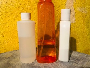 3-Step DIY Hair Treatment - three supply bottles