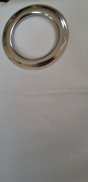 Dyeing Curtains - white canvas look grommet curtain