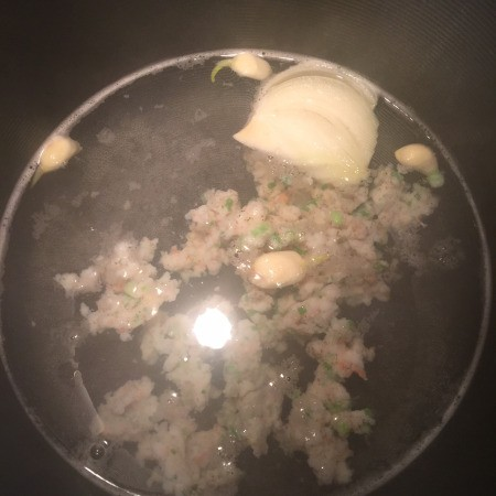 Shrimp, garlic & onion  Soup