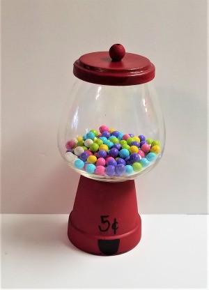 Making a Flower Pot Candy Dish - finished candy machine dish