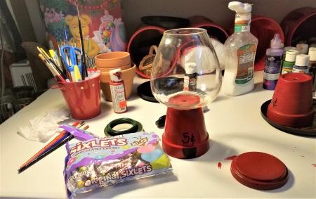 Making a Flower Pot Candy Dish - supplies