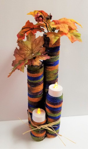 Four Tier Votive Candle Holder - foliage can be displayed as well