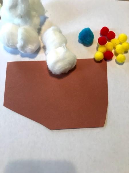 Making Paper Ice Cream Cones - supplies
