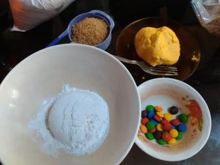 M&M Rainbow Cookies