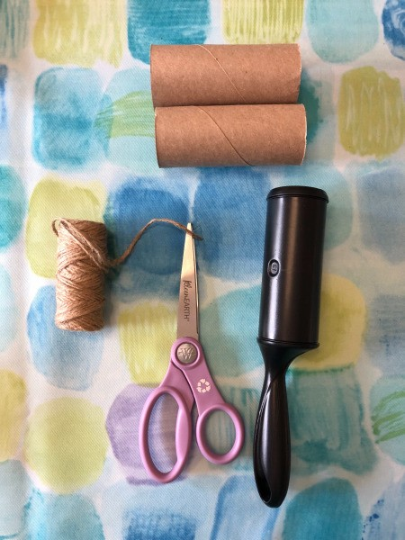 Supplies for making a recycled twine dispenser.