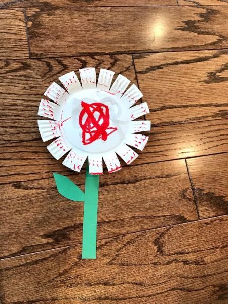 Spring Paper Plate Flower Craft - flower
