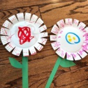 Spring Paper Plate Flower Craft - two toddler paper plate flower creations