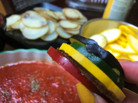 colorful vegetable slices