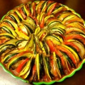 round dish of Creamy Ratatouille