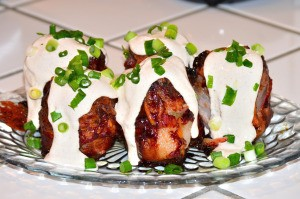 Volcano Potatoes on plate