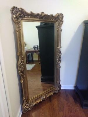 Value of a Vintage Bassett Mirror - large ornate framed mirror