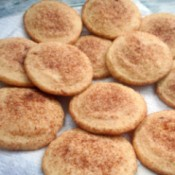 finished Snickerdoodle Cookies