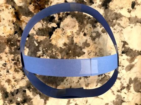 Shark Fin Hat - tape center piece as shown