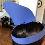 Shark Fin Hat - child wearing the shark fin hat
