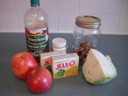 ingredients on lettuce