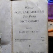 Value of a 1957 Vest Pocket Webster's Dictionary  - cover page