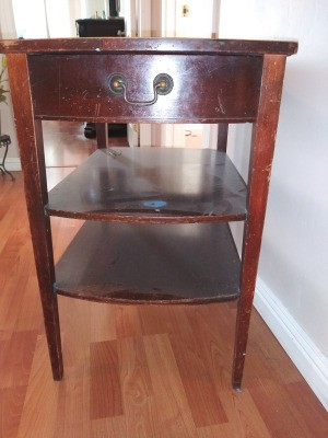 Value of a 3 Tier Mersman Table - table with drawer and two shelves