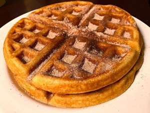 Churro Waffles on plate