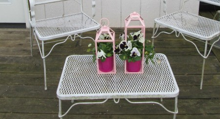 Recycled Lanterns As Planters