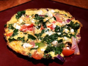 Cheese and Kale Frittata on plate