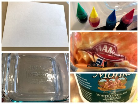 Crafting Supplies from Baking Soda and Vinegar Experiment - supplies