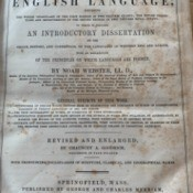 Value of an 1858 Webster's Dictionary - cover page