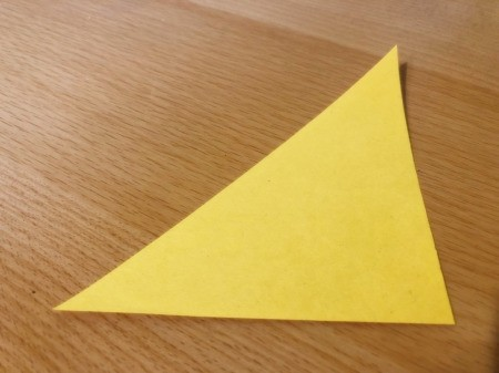 Toilet Paper Tube Chicken  - cut a yellow paper triangle for wing