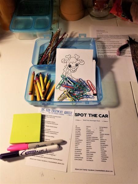 Kids Kar Kit - supplies