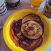 Pancakes in dish