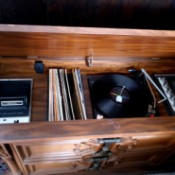 Value of a Vintage 8 Track Stereo Console - console with 8 track tape player, radio, and turntable