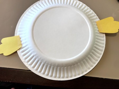 Paper Plate Puffer Fish - draw and cut out two fish fins