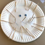 Paper Plate Puffer Fish - finished puffer fish