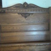 Value of an Antique Wooden Bed - antique headboard and footboard