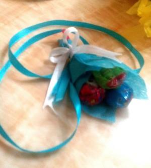 Lollipop Bouquet Garland - finished candy garland